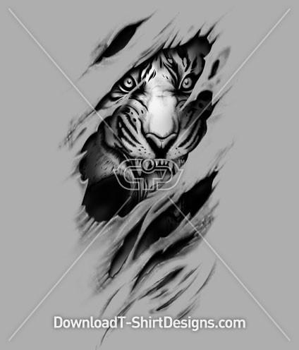 Tiger Shirt Womens