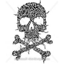 Shoelace Skull and Bones