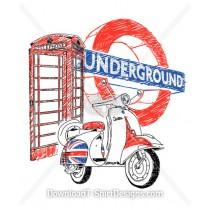 Britain Underground Vespa Phone Box