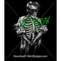 Music Superhero Skeleton