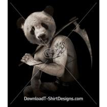 Panda Tattoo Axe Muscle