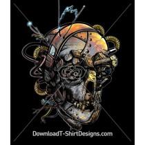 Skull Machine Antenna Metal