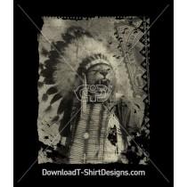 Tiger Indian Headdress Stamp