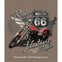 Ride Route 66 USA Motorcycle Map