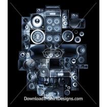 Music Stereo Skull