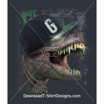 Cool T-Rex Dinosaur With Hat