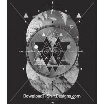 Abstract Geometric Circular Heroes
