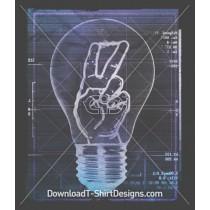 Light Bulb Diagram Peace Sign