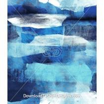 Torn Blue Watercolor Paper Effect Repeat