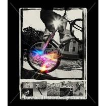 Cosmic Star Burst BMX Bike Riders