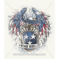 Vintage Rebellion American Eagle Shield