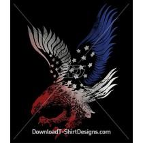American Eagle Flag Silhouette