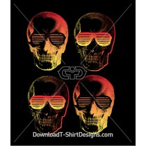 Gradient Skulls in Retro Shades