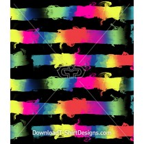 Rainbow Gradient Smoky Stripe Repeat