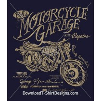 Vintage Motorcycle Garage