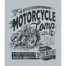 Vintage Motorcycle Competition Poster