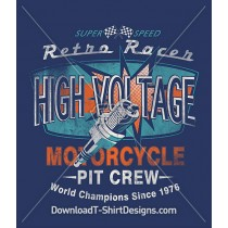 High Voltage Motorcycle Pit Crew