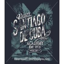 Santiago Cuba Vintage Varsity
