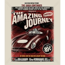 Amazing Journey Vintage Car Race Poster