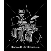 Skeleton Drum Kit Hat Band
