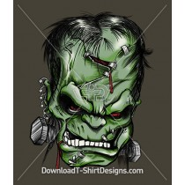 Angry Frankensteins Head