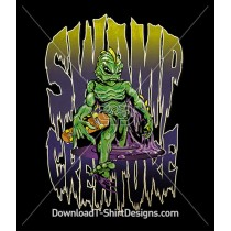 Horror Swamp Creature Skateboard