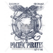 Pacific Pirates Ship Helm Eagle