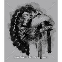 Indian Feather Watercolor Headdress