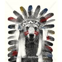 Indian Feather Headress Bear