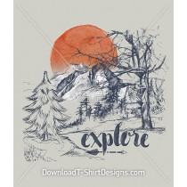 Explore Mountain Forest Trees Wilderness
