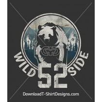 Wild Side Mountain Bear Silhoutte