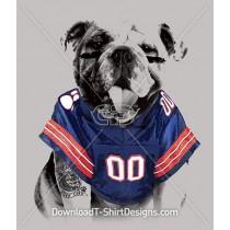 American Football Sports Jersey Bulldog
