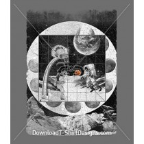 Space Moon Planet Basketball Astronaut Sports