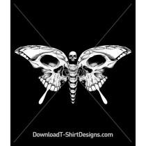 Skull Bones Skeleton Butterfly
