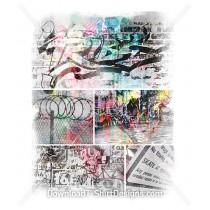 Urban City Street Graffiti Collage