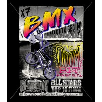 Retro 80's BMX Bike Poster