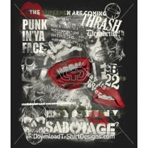 Punk Rock Mouth Poster