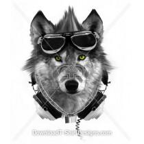 Wolf Mohawk Goggles Headphones