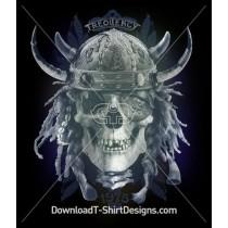 Viking Skull Hat Horn