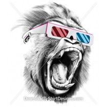 Gorilla 3d Glasses Angry