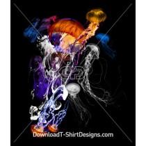 Jellyfish Tentacles Neon Water