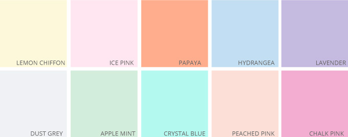 T-Shirt Design Trend Direction - Perfect Pastels.