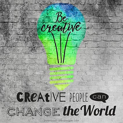 CREATIVE PEOPLE QUOTE-Downloadt-shirtdesign