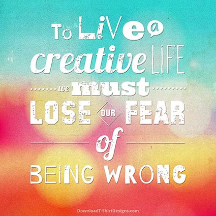 TO LIVE A CREATIVE LIFE QUOTE-Downloadt-shirtdesigns