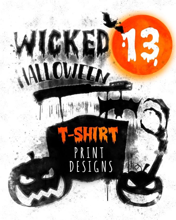13 wicked t shirt print designs for halloween download t for Download t shirt designs