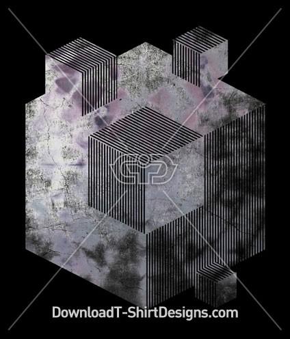 Grunge Geo Cube