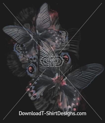 Butterfly Pattern Watercolor
