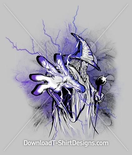 Wizard Magic Lightning Power Hand