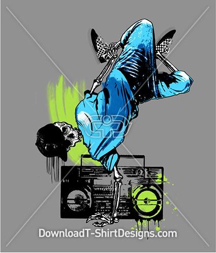 Skeleton Dancing Music Boom Box
