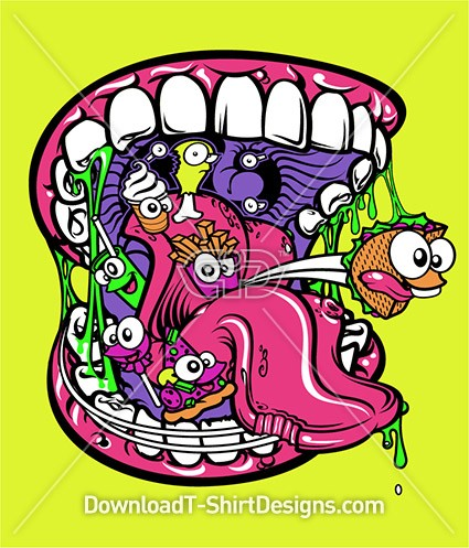 Big Mouth Junk Food Comic Critters